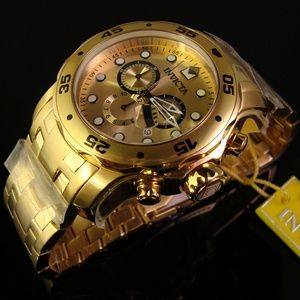 Brand new Invicta 18K Gold Plated Driver watch